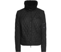 Halifax shearling-trimmed quilted shell jacket