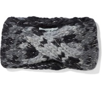 Lula Twisted Metallic Wool-blend Jacquard Headband