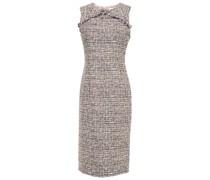 Jessica Kleid aus Tweed mit Fransen und Schleife