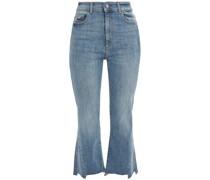 Bridget Hoch Sitzende Cropped Kick-flare-jeans mit Fransen