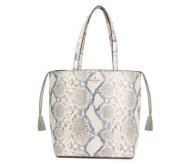 Hattie Hayes Street Snake-effect Leather Tote Ivory Size --