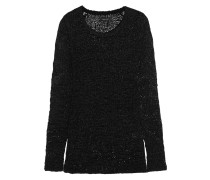 Breezy Open-knit Silk-blend Sweater Schwarz