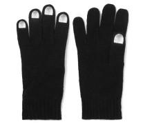 Wild Thing Metallic-trimmed Merino Wool Gloves Schwarz