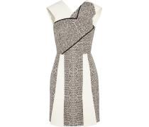 Jenolan Crepe And Tweed Mini Dress Grau