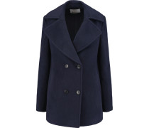 Wool-blend Coat Navy
