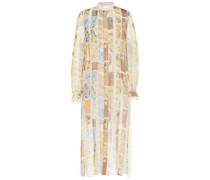 Printed Silk-voile Midi Dress