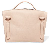 Hill Textured-leather Tote Beige