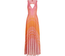Cutout Ombré Crochet-knit Maxi Dress Mehrfarbig