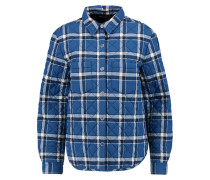 Quilted Plaid Jersey Shirt Blau