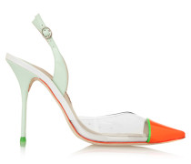 Daria Patent-leather And Pvc Pumps Mint