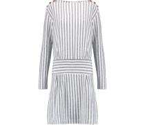 Cotton-jacquard Dress Weiß