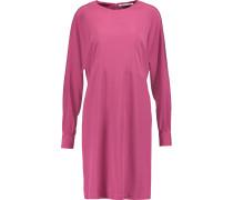 Silk-crepe Mini Dress Magenta