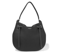 Rogers Large Textured-leather Shoulder Bag Schwarz