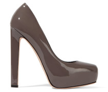 New Maniac Patent-leather Platform Pumps Champignon
