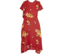 Sorrento draped open-back floral-print silk-crepe midi dress