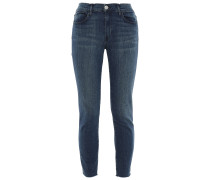 Cropped Faded Mid-rise Skinny Jeans