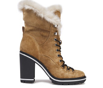Odelia Faux Fur-lined Suede Ankle Boots
