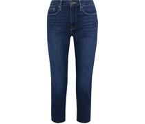 Le Beau Crop Frayed Boyfriend Jeans