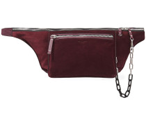 Elliot Large Chain-detailed Suede And Leather Belt Bag