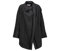 Aklaspe Asymmetric Wool-blend Coat Dunkelgrau