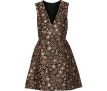 Pacey metallic brocade mini dress