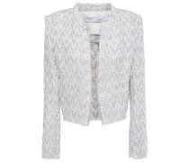 Makilo Cropped Frayed Metallic Bouclé-tweed Jacket