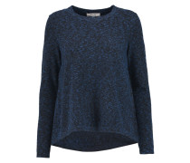 Slub Knitted Sweater Kobaltblau