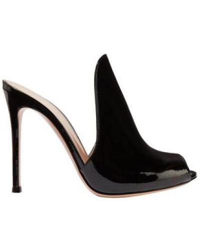 Aramis 100 Patent-leather Mules Black
