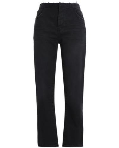 High-rise Straight-leg Jeans Black  3