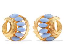 Gold-plated Resin Earrings