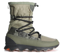 Woman Whitney Leather-trimmed Shell Snow Boots Army Green