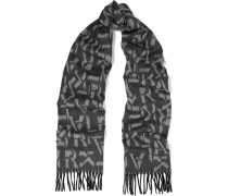 Intarsia Wool And Cashmere-blend Scarf Schiefer