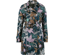 Printed Satin-twill Trench Coat Mehrfarbig