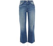 austin Hoch Sitzende Cropped Bootcut-jeans in ausgewaschener Optik