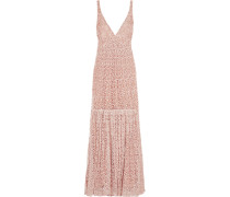Embellished Crochet-knit Maxi Dress Pastellrosa