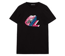 Kate T-shirt aus Baumwoll-jersey mit Pailletten