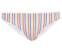 Lily Tief Sitzendes Bikini-höschen aus Stretch-piqué mit Streifen