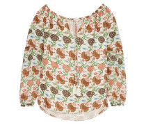 Julia floral-print silk blouse