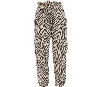 The Roxwell Zebra-print Twill Track Pants