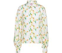 Bella Hemd aus Seiden-twill mit Leopardenprint