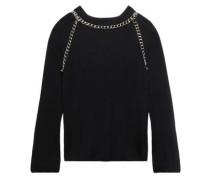 Ruffled wool turtleneck sweater