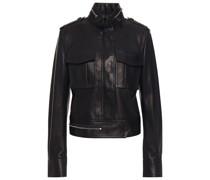 Jacke aus Strukturiertem Leder