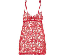 Autografo embroidered tulle chemise
