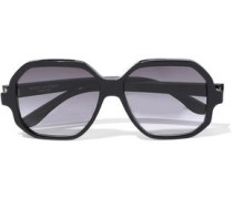 Square-frame Tortoiseshell Acetate Sunglasses Black Size --