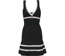 Fluted Bandage Mini Dress Schwarz