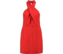 Twisted Crepe Mini Dress Rot