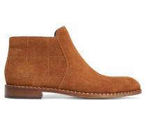 Stitched Suede Ankle Boots Braun