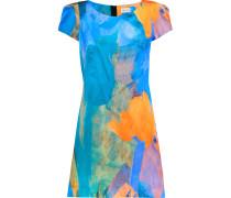 Printed Cotton And Silk-blend Mini Dress Mehrfarbig