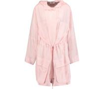 Washed-silk Hooded Jacket Pastellrosa
