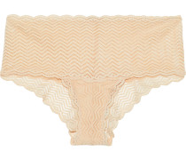 Woman Sweet Treats Stretch-lace Low-rise Briefs Peach
